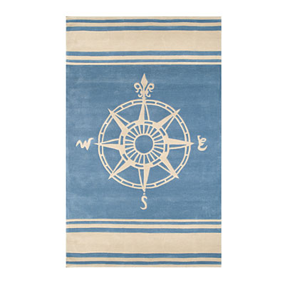 Nejad Rugs Classic Compass 8 x 11 Light Blue AT075 LBIY