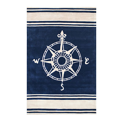 Nejad Rugs Classic Compass 8 x 11 Navy AT075 NYIY