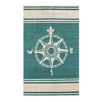 Nejad Rugs Classic Compass 5 x 8 Teal AT075 TLIY