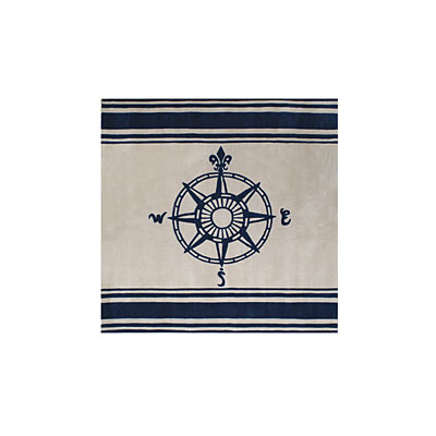 Nejad Rugs Classic Compass 8 Square Ivory/Navy AT075 IYNY