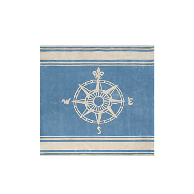 Nejad Rugs Classic Compass 8 Square Light Blue AT075 LBIY