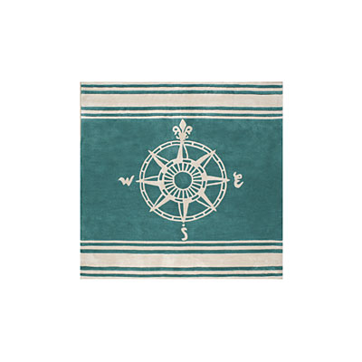 Nejad Rugs Classic Compass 8 Square Teal AT075 TLIY