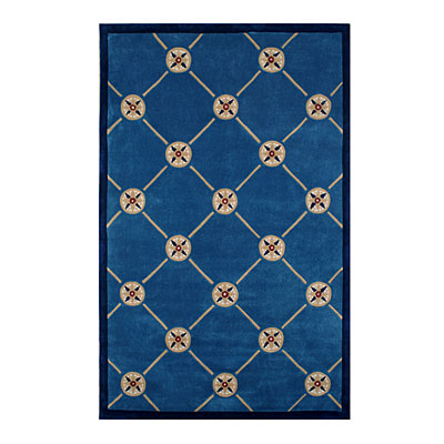 Nejad Rugs Compass 4 x 6 DARK BLUE AT037 DB
