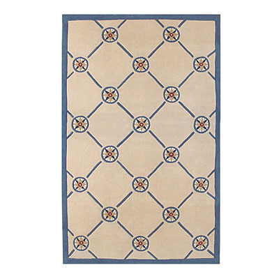 Nejad Rugs Compass 8 X 11 IVORY/BLUE AT037 IYBL