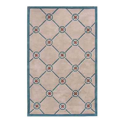 Nejad Rugs Compass 8 X 11 IVORY/TEAL AT037 IYTL