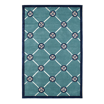 Nejad Rugs Compass 8 X 11 TEAL NAVY AT037 TLNY