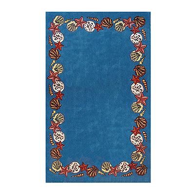 Nejad Rugs Coral Reef 4 X 6 BLUE AT043 BL
