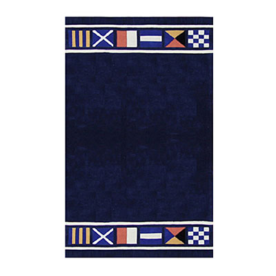 Nejad Rugs Nautical Flags 3 X 6 NAVY AT042 NY