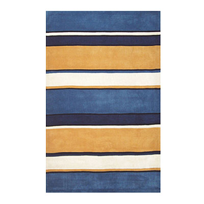 Nejad Rugs Ocean Stripes 5 X 8 SUNNY BLUES AT036 SNY