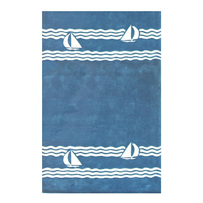 Nejad Rugs Sailboat 4 X 6 BLUE AT039 BL