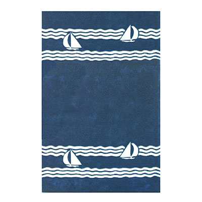 Nejad Rugs Sailboat 4 X 6 NAVY AT039 NY