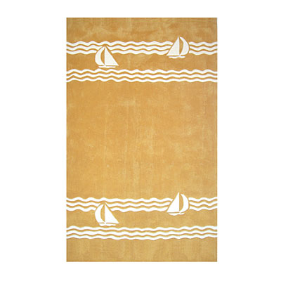 Nejad Rugs Sailboat 5 X 8 YELLOW AT039 YL