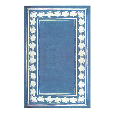 Nejad Rugs Shell Border 4 X 6 BLUE AT038 BL