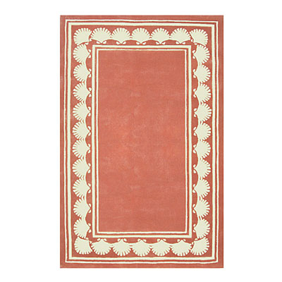 Nejad Rugs Shell Border 4 X 6 LIGHT CORAL AT038 LC