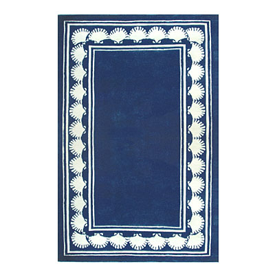 Nejad Rugs Shell Border 5 X 8 NAVY AT038 NY
