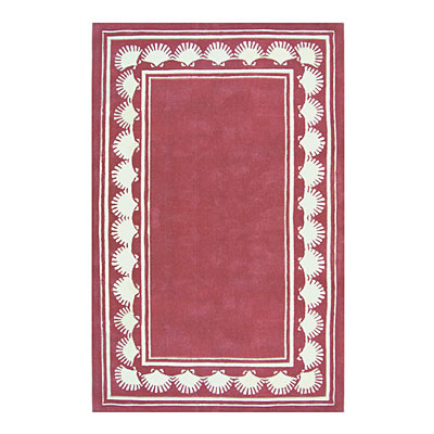 Nejad Rugs Shell Border 4 X 6 DUSTY ROSE AT038 RS