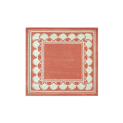 Nejad Rugs Shell Border 5 Square LIGHT CORAL AT038 LC