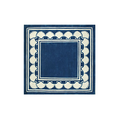 Nejad Rugs Shell Border 5 Square NAVY AT038 NY