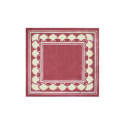 Nejad Rugs Shell Border 5 Square DUSTY ROSE AT038 RS
