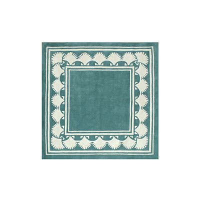Nejad Rugs Shell Border 5 Square TEAL AT038 TL