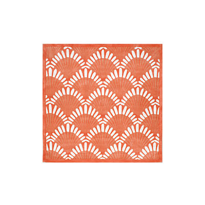 Nejad Rugs Shells Nouveau 6 Square Coral AT072 CO