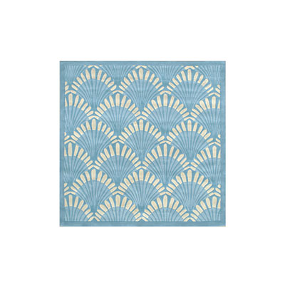Nejad Rugs Shells Nouveau 6 Square Light Blue AT072 LB