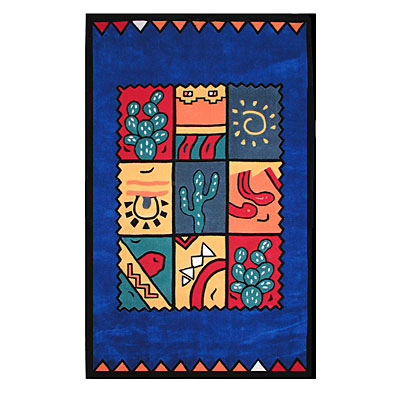 Nejad Rugs The Bright Collection 5 x 8 Fiesta Navy AT006 NY