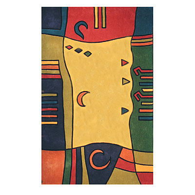 Nejad Rugs The Bright Collection 5 x 8 Moon Diamonds Yellow/Multi AT007 YLMT