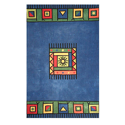 Nejad Rugs The Bright Collection 5 x 8 Blocks in Universe Blue AT008 BL