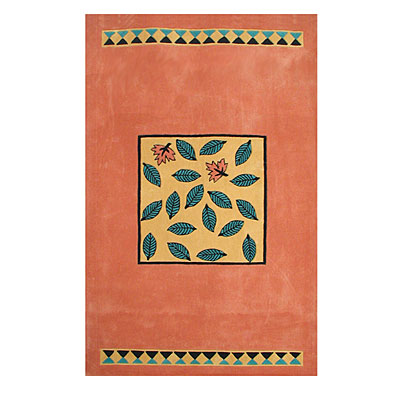 Nejad Rugs The Bright Collection 5 x 8 Garden Leaves Peach/Yellow AT009 PHYL