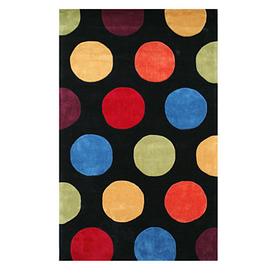 Nejad Rugs The Bright Collection 5 x 8 Dots Black AT011 BK