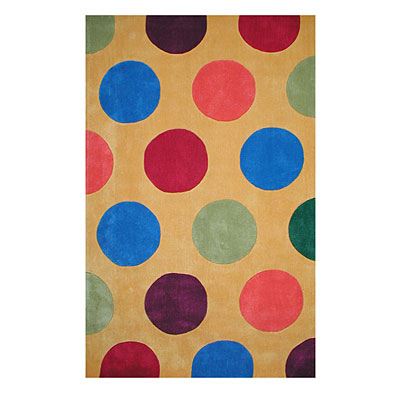 Nejad Rugs The Bright Collection 4 x 6 Dots Yellow AT011 YL