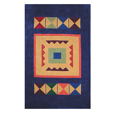 Nejad Rugs The Bright Collection 5 x 8 Aztek Navy AT012 NY