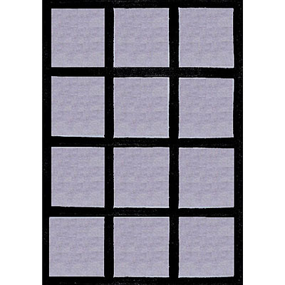 Nejad Rugs The Bright Collection 4 x 6 Window Blocks Grey/Black AT015 GY/BK
