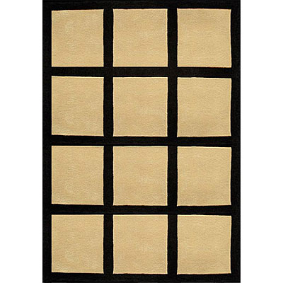 Nejad Rugs The Bright Collection 5 x 8 Window Blocks Sand/Black AT015 SD/BK