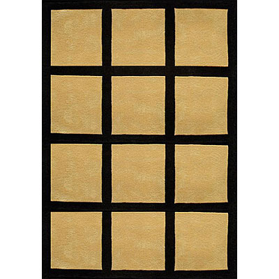 Nejad Rugs The Bright Collection 5 x 8 Window Blocks Yellow/Black AT015 YL/BK