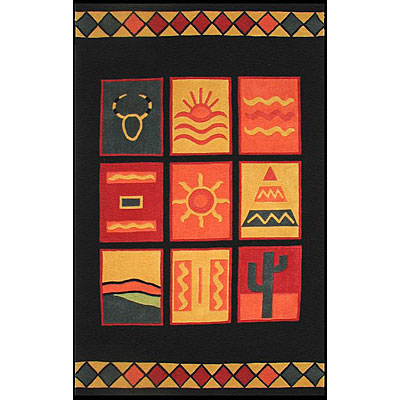 Nejad Rugs The Bright Collection 5 x 8 Sizzle Black AT018 BK