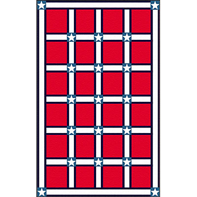Nejad Rugs The Bright Collection 4 x 6 Stars & Stripes Red/White AT027 RDWH