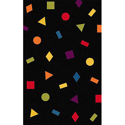 Nejad Rugs The Bright Collection 5 x 8 Confetti Black/Multi AT030 BKMT