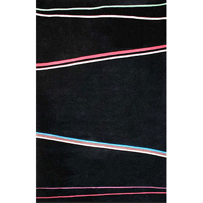 Nejad Rugs The Bright Collection 5 x 8 Matrix Black/Multi AT031 BKMT