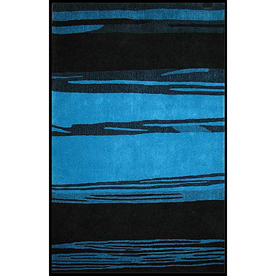 Nejad Rugs The Bright Collection 4 x 6 Horizon Blue/Black AT032 BLBK