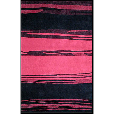 Nejad Rugs The Bright Collection 5 x 8 Horizon Red/Black AT032 RDBK