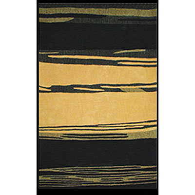 Nejad Rugs The Bright Collection 4 x 6 Horizon Yellow/Black AT032 YLBK