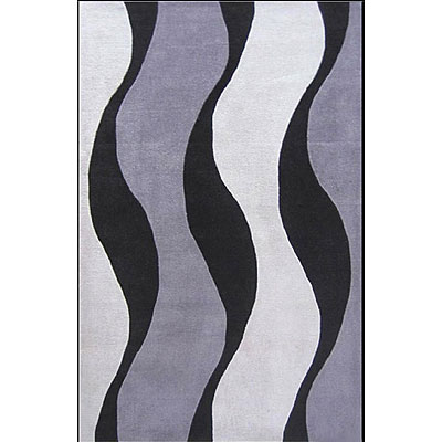 Nejad Rugs The Bright Collection 5 x 8 Winds of Africa Slate/Slate AT052 ST