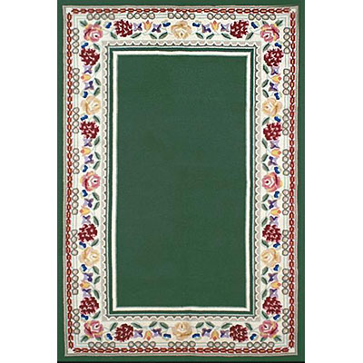 Nejad Rugs Bucks County - Border Rug 6 x 9 Emerald Green/Ivory 1007EMIY