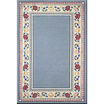 Nejad Rugs Bucks County - Border Rug 4 x 6 Light Blue/Ivory 1007LBIY