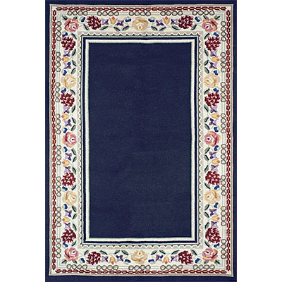 Nejad Rugs Bucks County - Border Rug 4 x 6 Navy/Ivory 1007NYIY