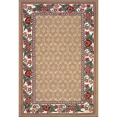 Nejad Rugs Bucks County - Damask 3 x 8 Runner Autumn/Ivory 1009ATIY