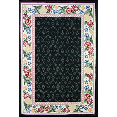 Nejad Rugs Bucks County - Damask 2 x 3 Black/Ivory 1009BKIY