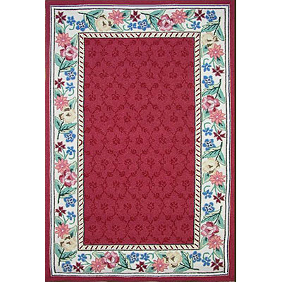 Nejad Rugs Bucks County - Damask 2 x 3 Burgundy/Ivory 1009BRIY